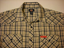 Dickies XL Short Sleeve Snap Button Mens Western Shirt