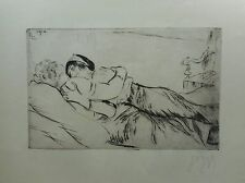 Louis Legrand Femmes Damnees Etching Signed Original Print 2 Women Baudelaire