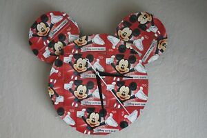 Mickey Mouse Disney Gift Cards Handmade Clock - Large Unique Decor Home Office