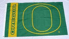 Green + Yellow University of Oregon Ducks Large 3x5 Flag Banner NEW O Logo OU