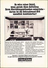 3w2547/ Alte Reklame von 1968 - INTERLÜBKE Möbel - Wiedenbrück / Westf.