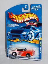 Hot Wheels 2001 Final Run Series 2 of 12 '55 Chevy Orange & White w/ Real Riders