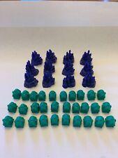 Monopoly: Disney Edition 2001 Set of 12 Castles + 30 Cottages Purple Green