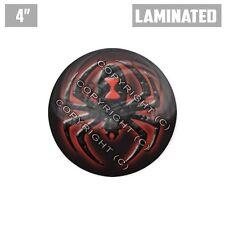 "1 Custom Thick Laminated Glossy 4"" 3M Premium Decal Sticker - BLACK WIDOW SPIDER"