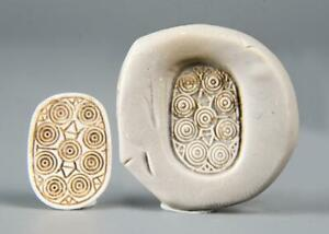 Ancient Egyptian Hyksos scarab with decoration of circles: Circa 1750-1550 BC.