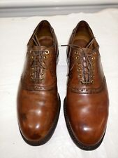 Vintage Footjoy USA Oxfords Golf Shoes Patina Brown Leather Mens 8 C.
