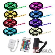 LED SMD Strip Leiste Band + Fernbedienung + Trafo 500cm 5m Wasserfest RGB 5050