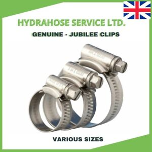 Jubilee Hose Clips (Worm Drive) Mild Steel clamps Genuine part various sizes