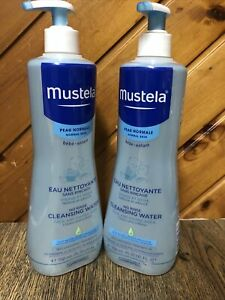 Lot Of 2 Mustela No Rinse Cleansing Water Face & Diaper Area 25.35 fl oz
