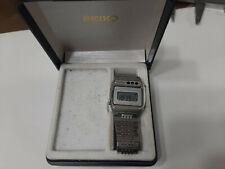 Seiko A639 5060 orologio vintage uomo quartz (batteria) LCD 32 mm con box