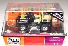 AUTO WORLD  JEEP CJ-5 - HO SLOT CAR - MIB - BLACK - FREE WHEELING CHASSIS - NEW