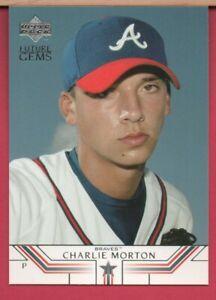2002 Upper Deck Prospect Premieres CHARLIE MORTON Rookie Card #41 - RC