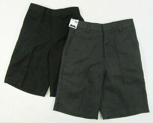 Boys School Uniform Shorts Elasticated Grey Zip Bigger Waist Sturdy Wide Fit S 3