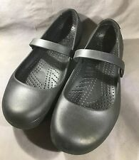 CROCS Alice Works Shoes Mary Janes Flats Black Slip Resistant Women's Size 11