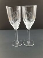 "Lalique France Crystal ""ANGE"" Champagne Flutes (Set of 2) - 8"" - Exquisite!"