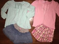 Adorable set girls 2T outfits sets cotton skirts shorts long sleeve shirt