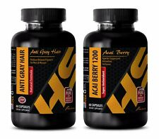 Energy pills - ANTI GRAY HAIR - ACAI BERRY COMBO- coenzyme a plus