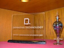 DEFINITIVE TECHNOLOGY ETCHED GLASS HOME THEATRE SIGN