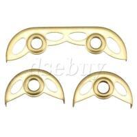 Gold Bare Copper Alto Saxophone Repair Parts Big Small Key Guard Pack of 3