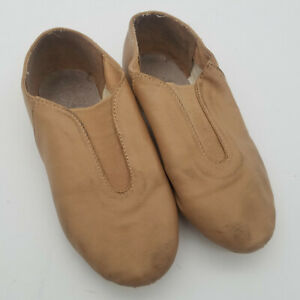 Alexandra Collection Tan Jazz Hip Hop Dance Slip-On Shoes Size 5AD Style AC2