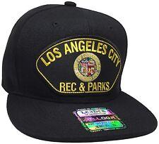 City Of Los Angeles Rec & Parks Hat Color Black Snapback