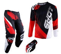NEW 2019 SHOT DEVO PANT & JERSEY MOTOCROSS ENDURO MX COMBO KIT BLACK RED