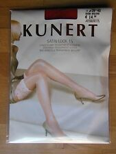 Kunert Garter Belt Stockings - Long Satin Look 15 Transparent Shiny gr.35-37 Red