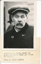 PHOTO PRESSE 1936 - Mort de Maxime GORKI Ecrivain Russe