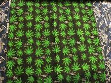 CANNABIS MARIJUANA GREEN  LEAVES LEAF POT WEED BANDANA COTTON 22x22 In.