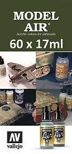 Cualquier Modelo 60 X Vallejo Air-Elige Cualquier Color De 17ml/auxiliar/de otros rangos