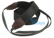 DSLR Camera Quality Soft Leather BLACK Shoulder Neck Belt Strap Grip Straps #S36