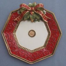 Fitz & Floyd Damask Holiday Round Platter or Chop Plate New in Box