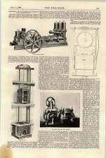 1897 tre lanciare le pompe SOLLEVATORE ELETTRICO e MOTORE Newcastle Esposizione
