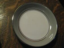 Easterling Majestic Germany China Gray Platinum White Butter Pat Plate 3 1/4""