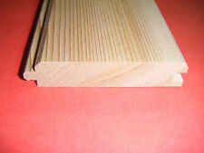 WESTERN RED CEDAR NO2 CLEAR AND BETTER EX 25mm X 100mm T&G V-GROOVED CLADDING