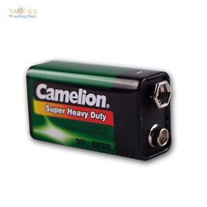 9V-Block Battery Camelion Zinc / Coal 9,0 Volt Block Battery 9 V