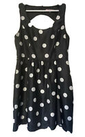 Review 14 Sally Spot Dress Fit And Flare Polka Dot Summer Retro Pinup