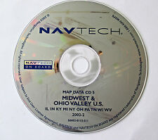 97 98 1999 BMW 740i 740iL 750iL NAVIGATION MAP DATA CD 5 MIDWEST OHIO VALLEY IN