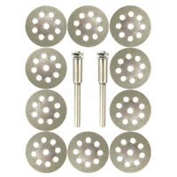 10Pcs 22mm Mini Diamond Cutting Discs Wheel Blades Set Drill Bit For Rotary Tool