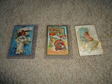 (I) Vintage Holiday Postcards Lot Thanksgiving, Happy New Year, Embossed