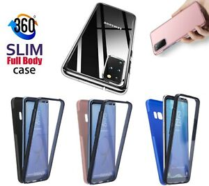 for Samsung S20 fe A21s A12 A51 Clear Case Full Body Silicone Gel Phone Cover
