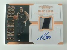 2017-18 Panini Dominion Peerless Autograph Marc Gasol Auto Patch #13/15
