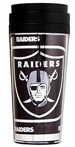 Official NFL Teams 16oz Acrylic Travel Tumbler Coffe Mugs (OAKLAND RAIDERS)