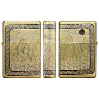 Zippo Lighter Symbols of Longevity GD Gold Brass Vintage Emblem Windproof Gift