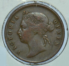 Straits Settlements 1876 Queen Victoria Cent 290536 combine shipping