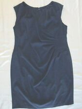 $425 Adrianna Papell 22W plus size womens dress lined solid blue short sleeve