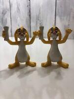 "Lot 2 Disney Winnie The Pooh Rabbit in Garden Hat 3"" Tall PVC Figure"