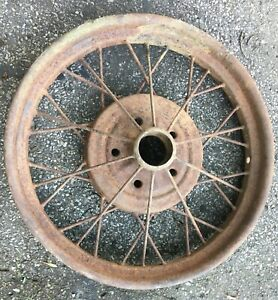 "1928 1929 Model A Ford 21"" inch WIRE SPOKE WHEEL Original 5 lug"