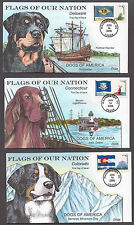 "**US FDC SC# 4278-4282 Washington, DC 6/14/2008 ""Flags of the US & Dogs"" Collins"