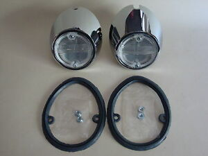 1969  1970 Ford Mustang Complete Back Up Light Kit - NEW PAIR!!
